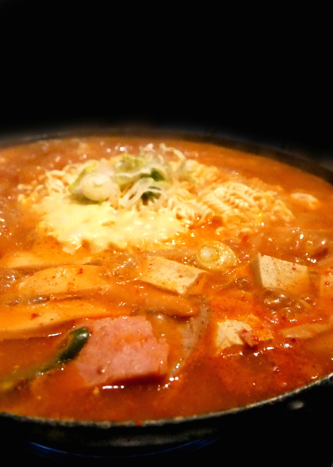 CHEESY Korean Food: Army Stew With Cheese