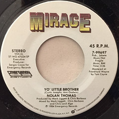 NOLAN THOMAS:YO' LITTLE BROTHER(LABEL SIDE-A)