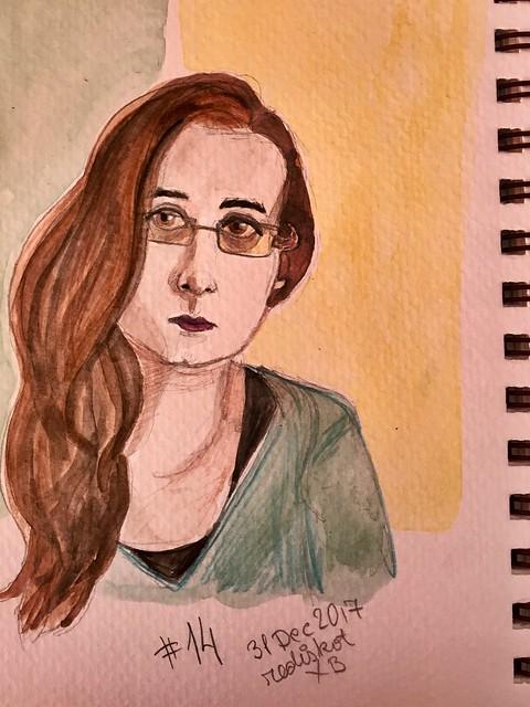 Sketchy selfie #14
