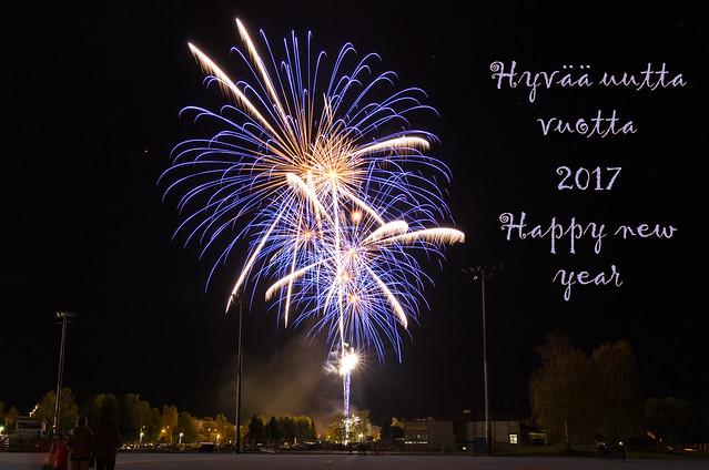 Hyvää uutta vuotta - Happy new year. Valokuvaaja: Markus Kauppinen