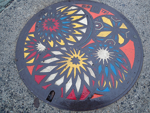 Artwork on Matsumoto metal Manhole cover #1