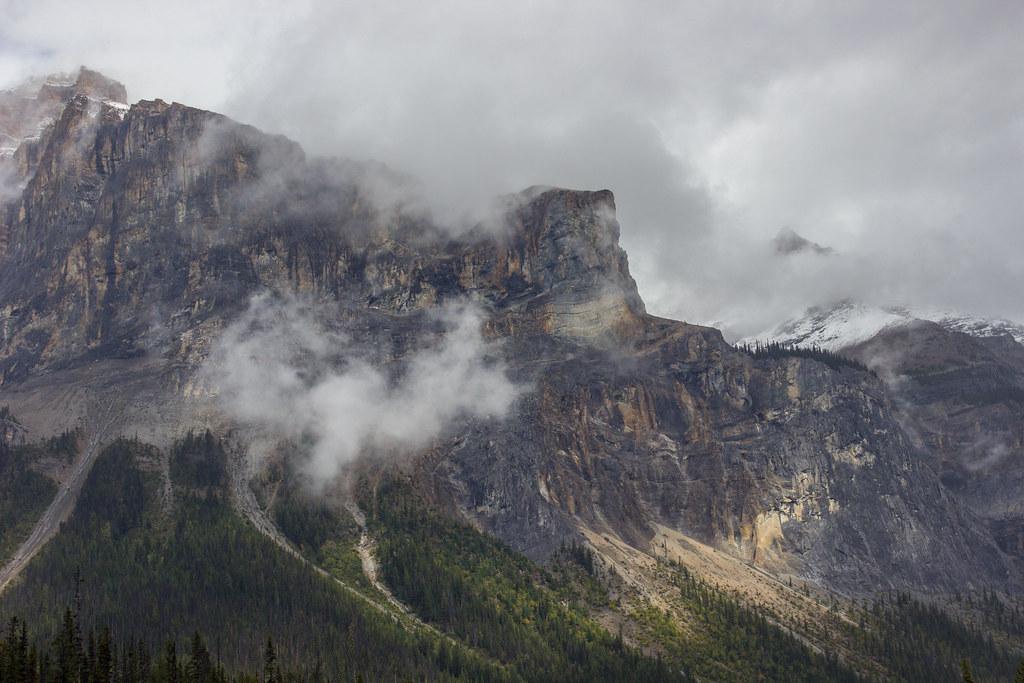 Mountains around Emerald Lake