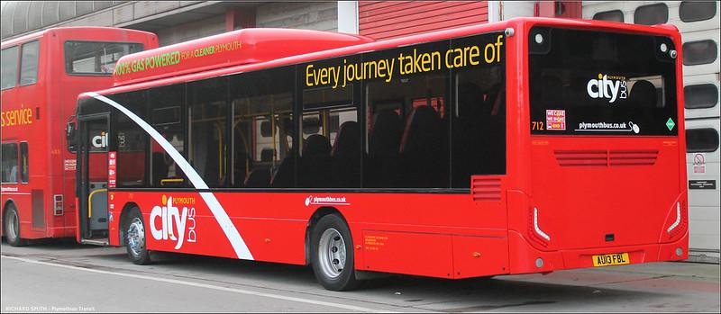 Plymouth Citybus 712 AU13FBL