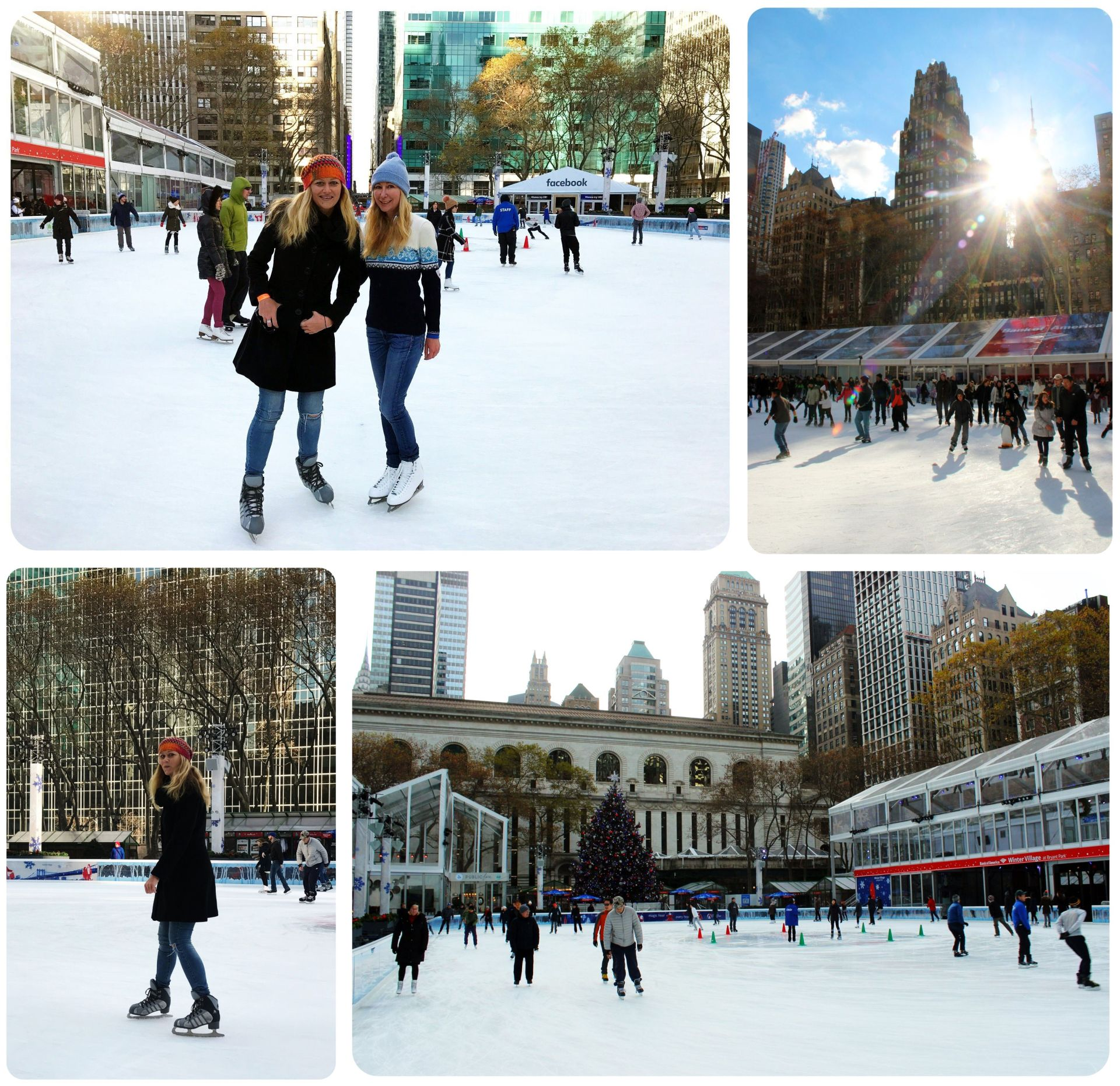 New York Bryant Park Ice Skating