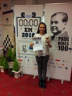 Призер чемпионата Европы по быстрым шахматам