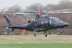 G-MOAL - 2015 build Agusta-Westland AW109SP Grand New, inbound to Barton for a quick gas & go