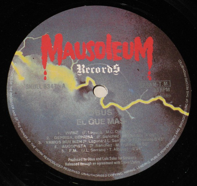 "OBUS - EL QUE MAS 12"" LP Vinyl Stereo Gramophone Record"