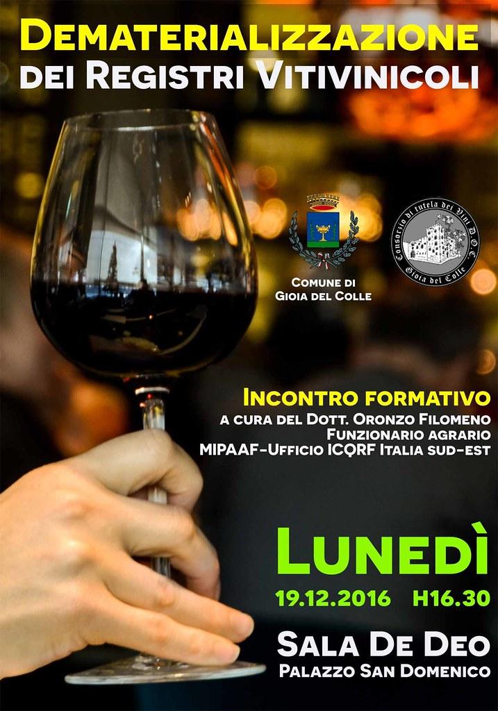 Dematerializzazione dei registri vitivinicoli