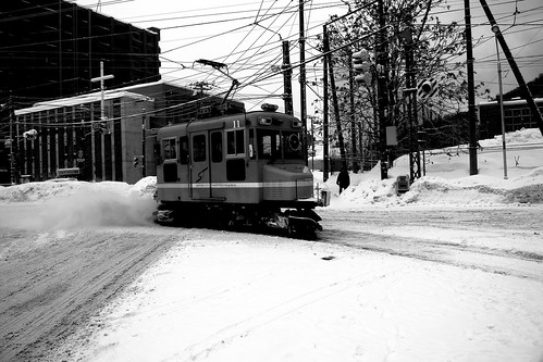 Tramcars at Sapporo on DEC 29, 2016 (26)