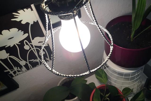 washi tape covered lampshade