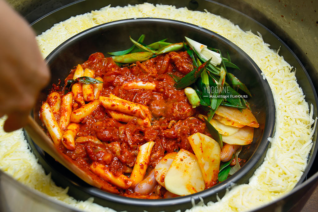 yoogane cheese chicken galbi