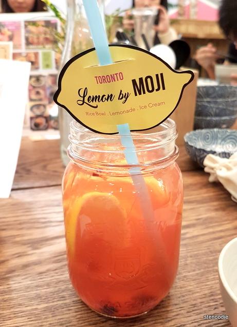 Iced Ginger Fruit Lemonade