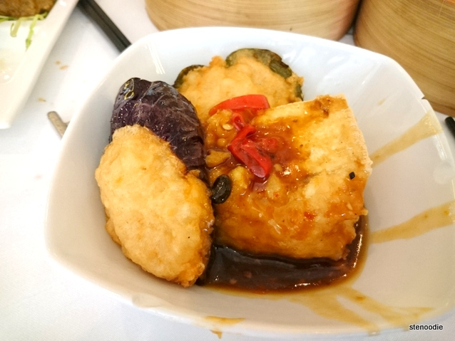 Pan-fried green pepper with eggplant & minced shrimp paste