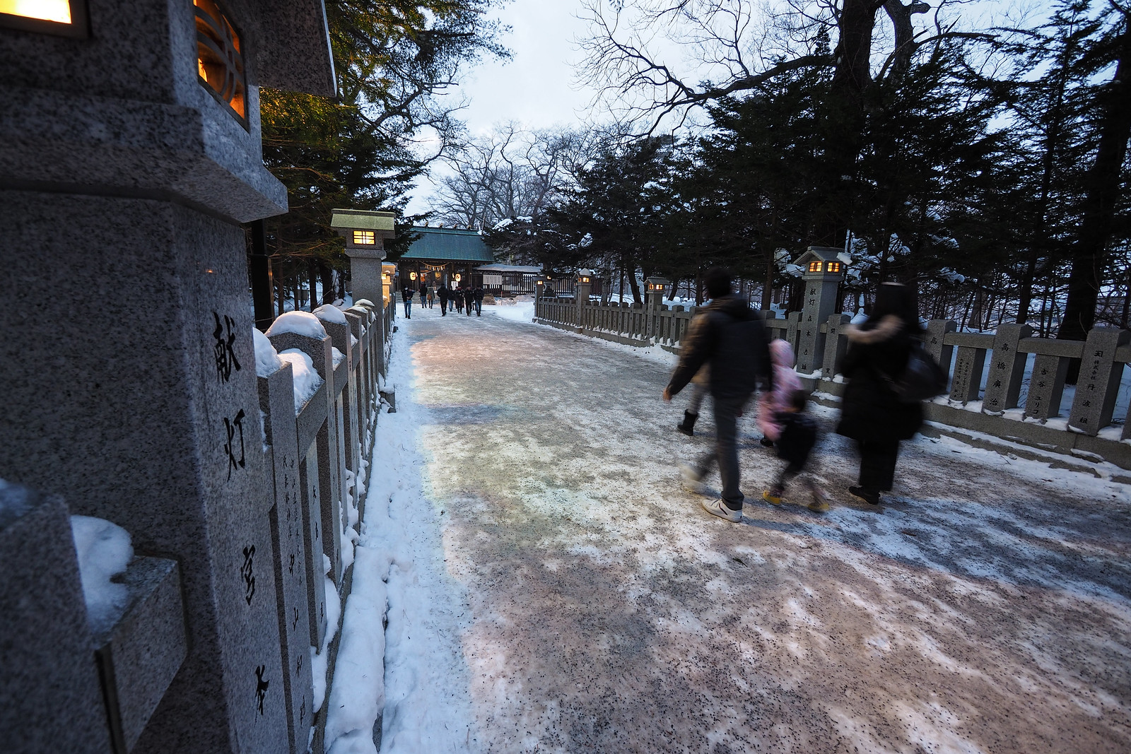 Snowshoeing along Chitose River (Hokkaido, Japan)