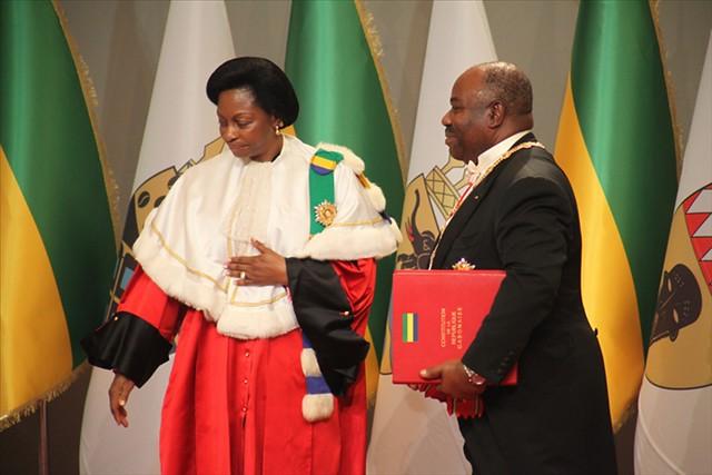 Ali Bongo a été investi au Gabon pour un 2e manda