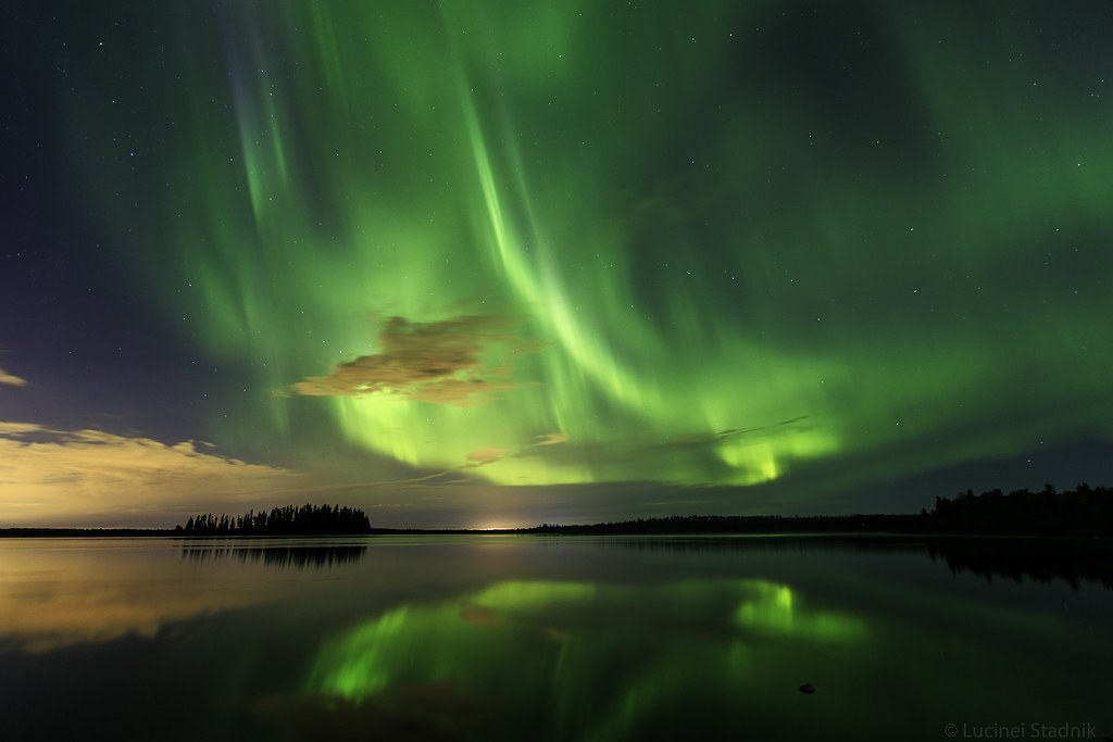 Northern Lights over Astotin Lake