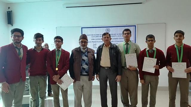 MAJ SM Mustafa with the successful students