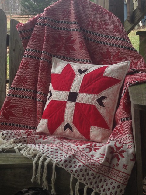 Nordic throw with a matching pillow