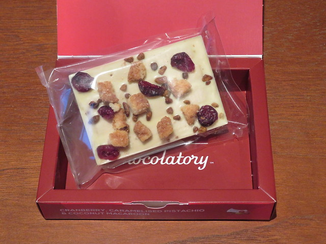 London Kit Kat Chocolatory - Cranberry, Caramelised Pistachio & Coconut Macaroon