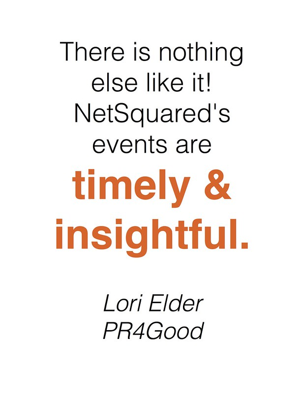 Events are timely and insightful