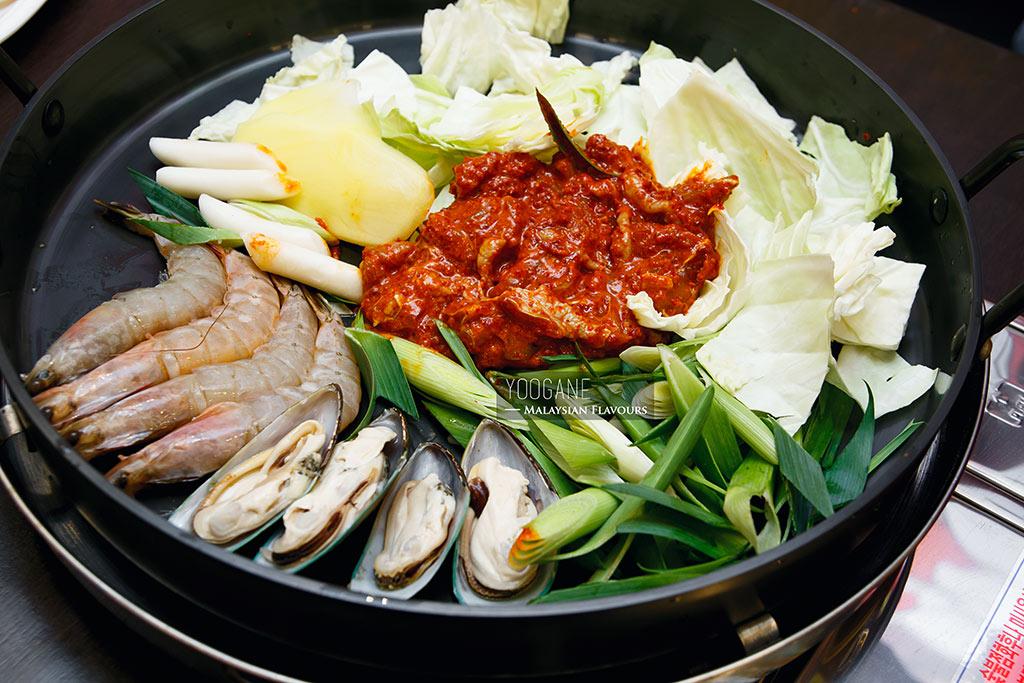yoogane seafood chicken galbi