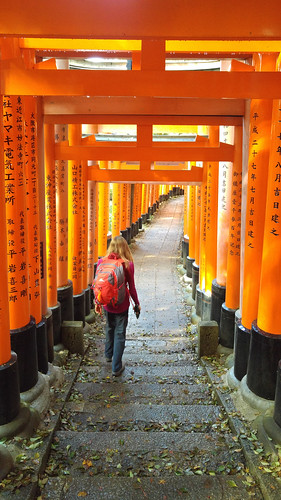 Fushimi Inari-taisha shrine red Tori gates walk (2)