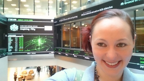 March 2016 - Inspiring 50 Opening the Stock Exchange in London - Liz Hardwick