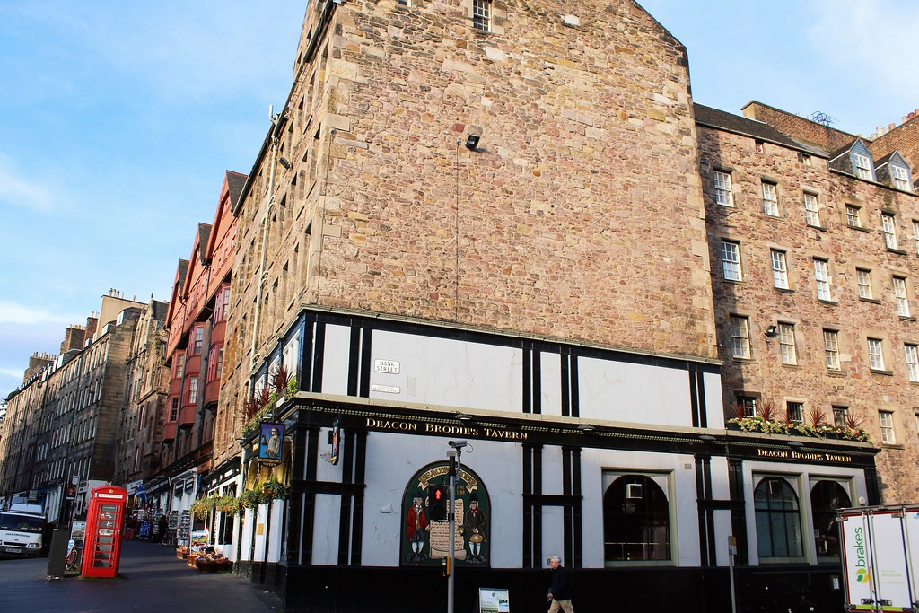 Deacon Brodie''s Tavern, Royal Mile, Edinburgh, Scotland.