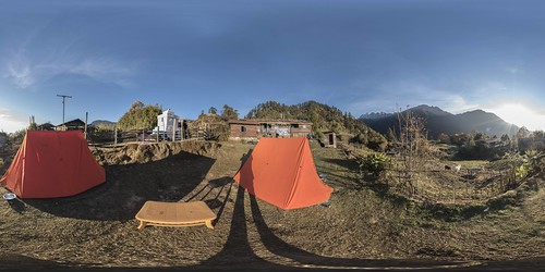 360x180 view of Tshoka (9,800') campsite, West Sikkim