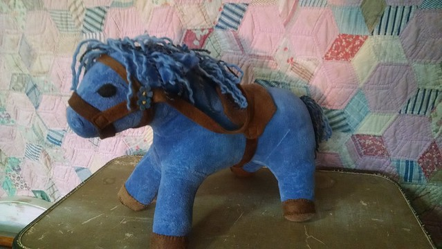 "Horse For up to a 16"" Waldorf Doll, Custom Listing, Organic Velour, You pick Colors"