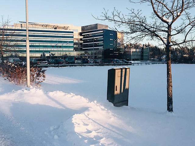 FinnairVantaaTalviLumi, snow, tammikuu, january, finland, suomi, vantaa, finnair, office, toimisto, winter,