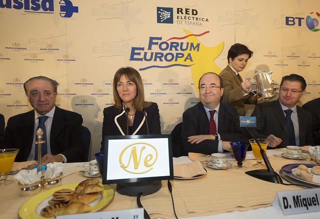 Idoia Mendia interviene en el desayuno informativo del Fórum Europa en Madrid