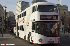 Wrightbus NRM NBFL - LTZ 1487 - LT487 - YouTube CF - Clapton Common 88 - Go Ahead London - London - 161126 - Steven Gray - IMG_4653