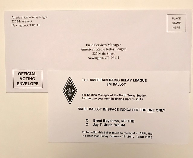 ARRL section manager ballot