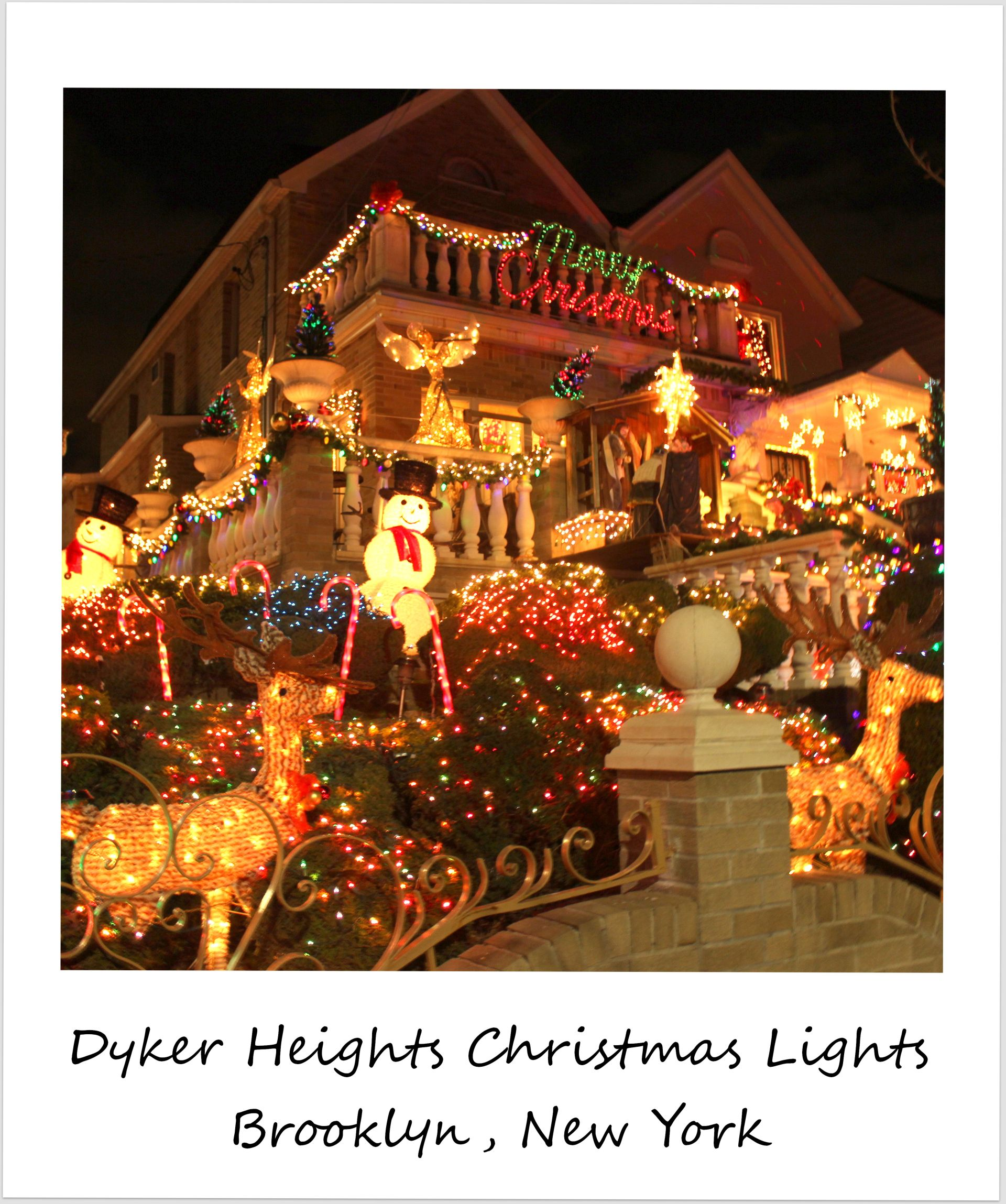 polaroid of the week usa new york city brooklyn dyker heights christmas lights