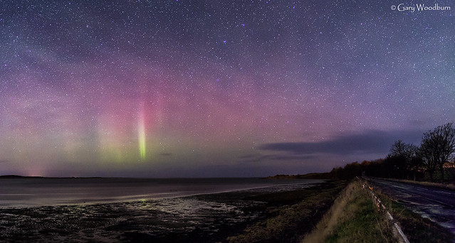 The Budle Spike - Aurora Borealis and Airglow, Budle Bay, Northumberland