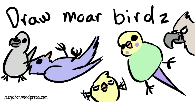 draw more birds new years resolution