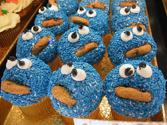 Cookie Monster Cupcakes | by princess_of_llyr