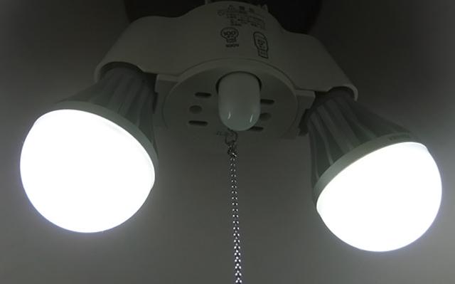 東芝 LED電球 ニトリ ランプシェード 節電 節約