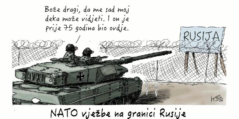 NATO manevri pred Ruskom granicom