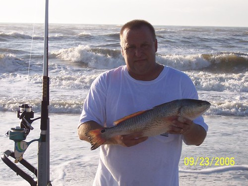 Da sc surfman with da redfish2nd north folly meet and gree for South carolina surf fishing