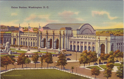 Union Station, Washington, postcard