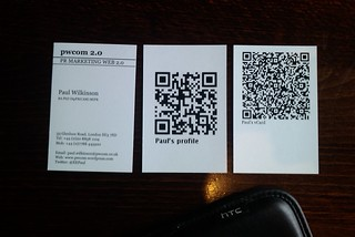 QR codes on business cards | by EEPaul