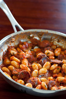butter beans with chorizo & tomato | by jules:stonesoup