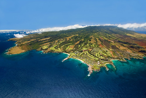 Aerial view of Maui and Kapalua Resort | by kapaluaresort
