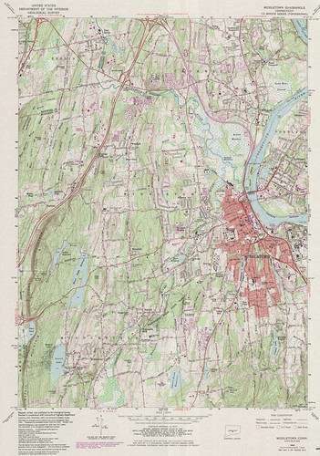 Middletown Quadrangle 1984 - USGS Topographic Map 1:24,000 | by uconnlibrariesmagic