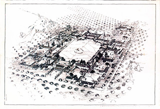 Early Ink Drawing of Hospital Layout (South Quad) | by California State University Channel Islands