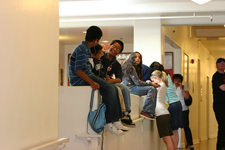 Prospective Students Hanging Out in the Bell Tower | by California State University Channel Islands