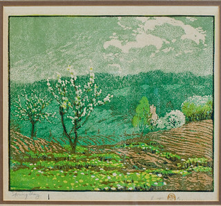 Spring Day (1917) by Gustave Baumann | by General Federation of Women's Clubs