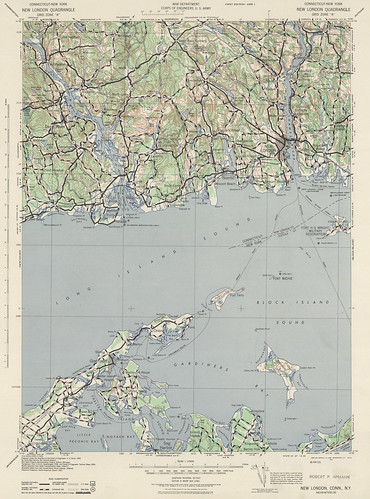 New London Quadrangle 1942 - USGS Topographic Map 1:125,000 | by uconnlibrariesmagic